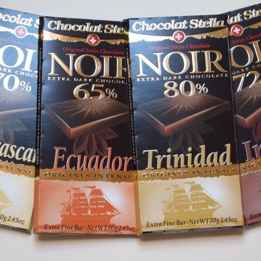 Chocolat Stella Madagascar, Ecuador, Trinidad and India