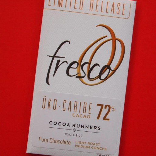 Fresco Limited Release Cocoa Runners Öko Caribe 72% light roast medium conche