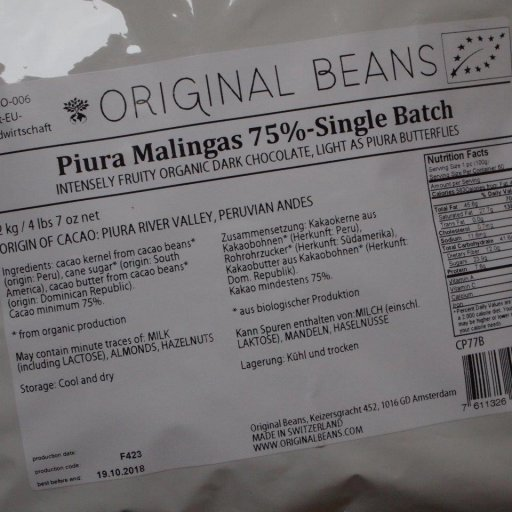 Original Beans Piura Malingas Peru 75% Single Batch