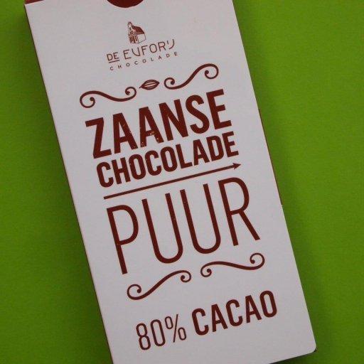 De Euforij Zaanse Chocolade Puur 80%