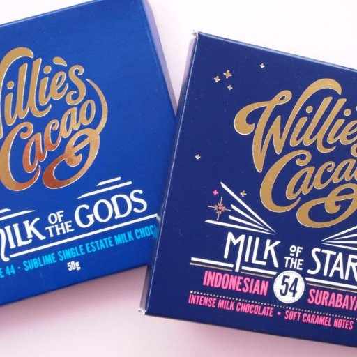 Willie's Cacao Milk of the Gods Rio Caribe and Milk of the Stars Surabaya