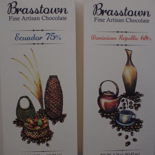 Brasstown Ecuador Manabi 75% and Dominican Republic 68%