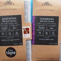 Chocolarder Asháninka Peru 70% and Sambirano Madagascar 80%