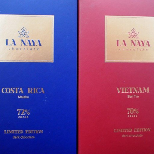 La Naya Costa Rica Maleku 72% and Vietnam Ben Tre 70%