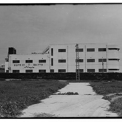 A picture of the Elite Chocolate Factory, Israel 1939