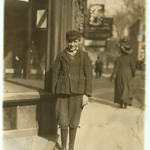 Earl Roberts Factory Worker, Age 15 (1910)