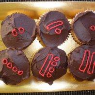 Maya numbers on cupcakes