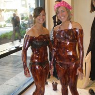 Chocolate bodies for Komen
