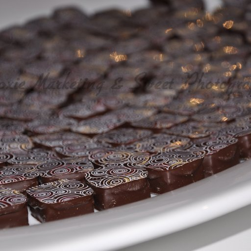 Truffles on white plate