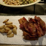 Bacon and roasted garlic