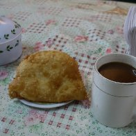 Breakfast in Trinidad - Empanada Con Queso y Chocolate