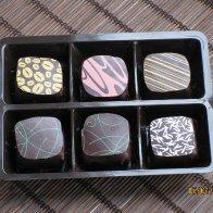 Hand crafted ganache truffles in t box