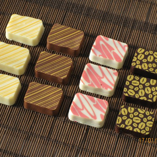 A group of 4 flavour truffles