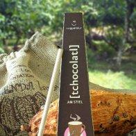 Plantation Hacienda Iara hot chocolate on a stick with chili