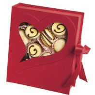 Red Open Heart Box