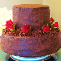 Hard ganache wedding cake