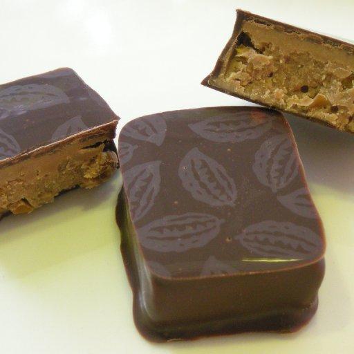 Cabosse: praliné 66% fruits & caramel beurre salé Guerande