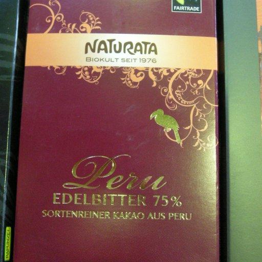 Naturate: 75% Peru, bio, fairtrade.