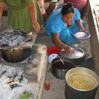 Eladio's Wife Preparing Lunch