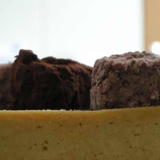 Chocolate guimauves and truffel sablé.