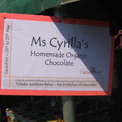 Sign for Ms Cyrilla's Chocolates