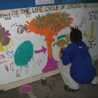 The Life Cycle of Cacao Cooperative Mural