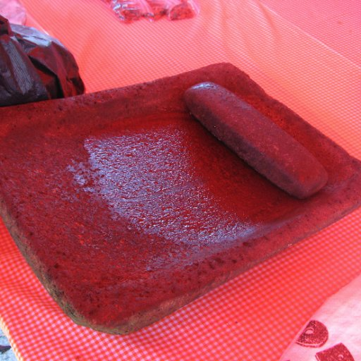 A Metate with its Mano