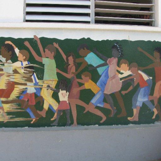 Mural on the Outside of a Parochial School Building