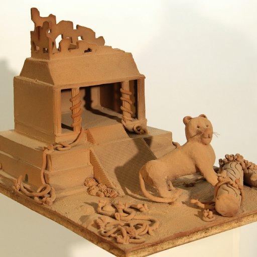 Maya Tempel mit Tiger