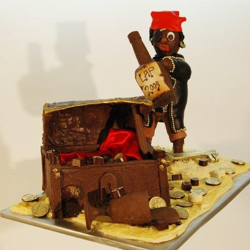 Schatztruhe und Pirat