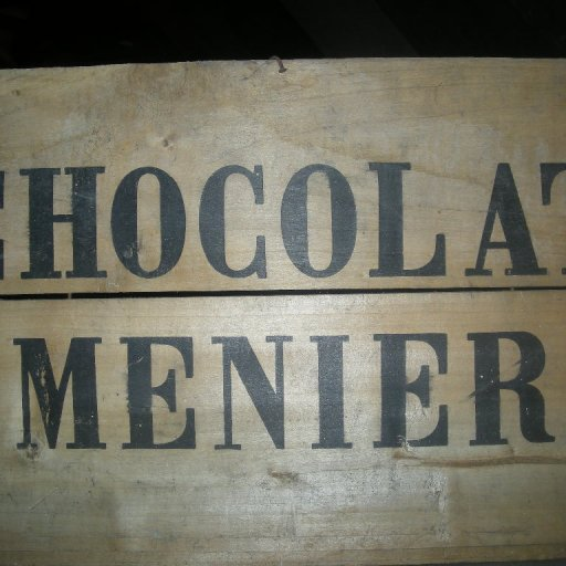 Old wooden box from Menier