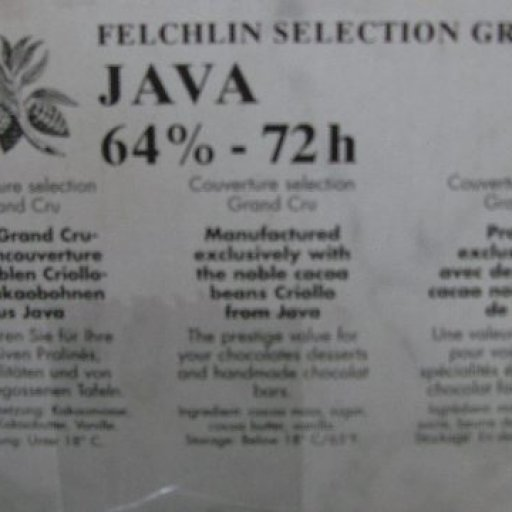 Another Felchlin Grand Cru - from Java