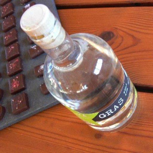 A bottle of Whisky Castle lemongrass vodka