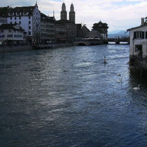 The river Limmat looking toward Lake Zurich
