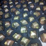 Amaretto chocolates for the corporate order, I am almost done! Few more Imperial Stouts and then it's packing time. Woo hoo.