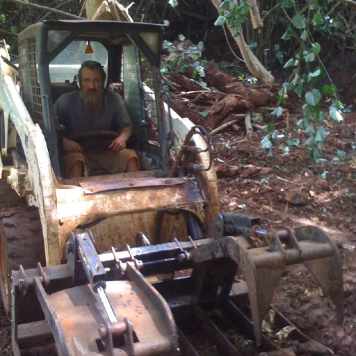 clearing land to plant