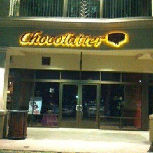 Sweet Paradise Chocolatier nite signage