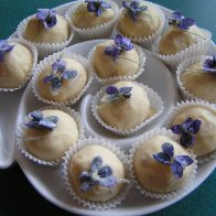 Pear and Violet Truffles