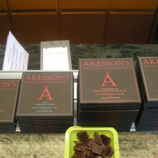 Always a treat this Akesson's lovely chocolate, thanks Bertil.
