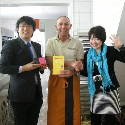 Japanese friends visiting chocolatier