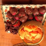 Chocolate incorporate with fruits