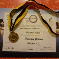 my certificate for pastry competition