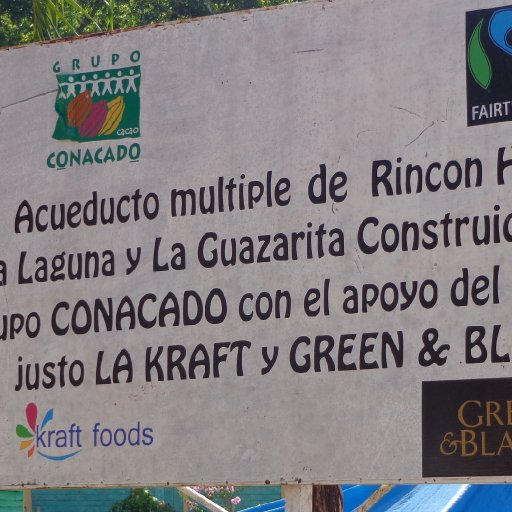 Fair Trade Sign, Rincon Hondo, Dominican Republic