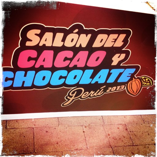 Signage for the 2013 Salon del Cacao y Chocolate Perú