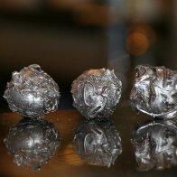 Sesame Matcha Okara Truffles with Silver Treatment