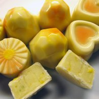 Molded chocolates with white-chocolate citrus ganache