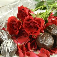 Rose Petal & Champagne Chocolate Truffles