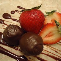 Strawberry Balsamic Chocolate Truffles