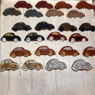 Hand painted VW bug pops
