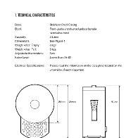 Hot Chocolate Dispenser Instructional manual